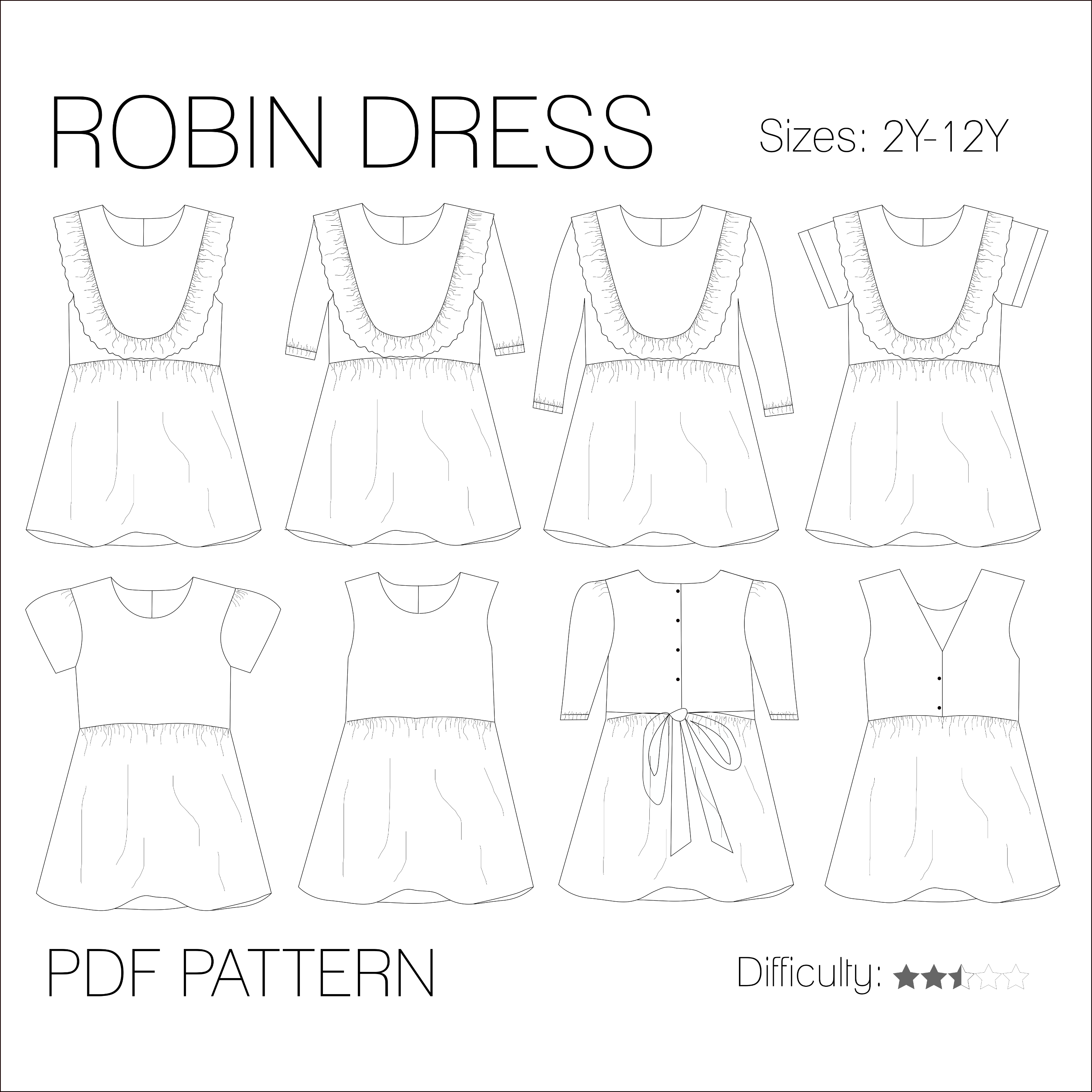 d03eeba9648afd Robin dress - PDF pattern (English) - Iris May