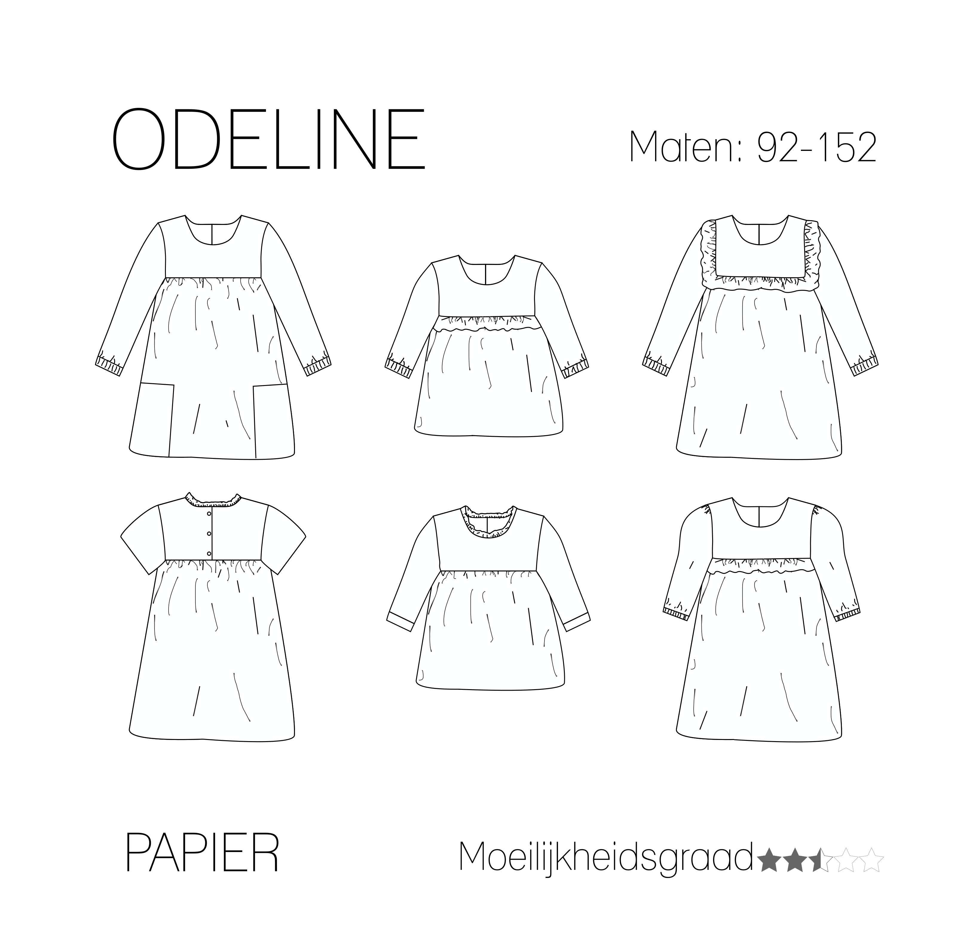 572b5a682c41b9 Odeline blouse jurk - Papieren patroon - Iris May