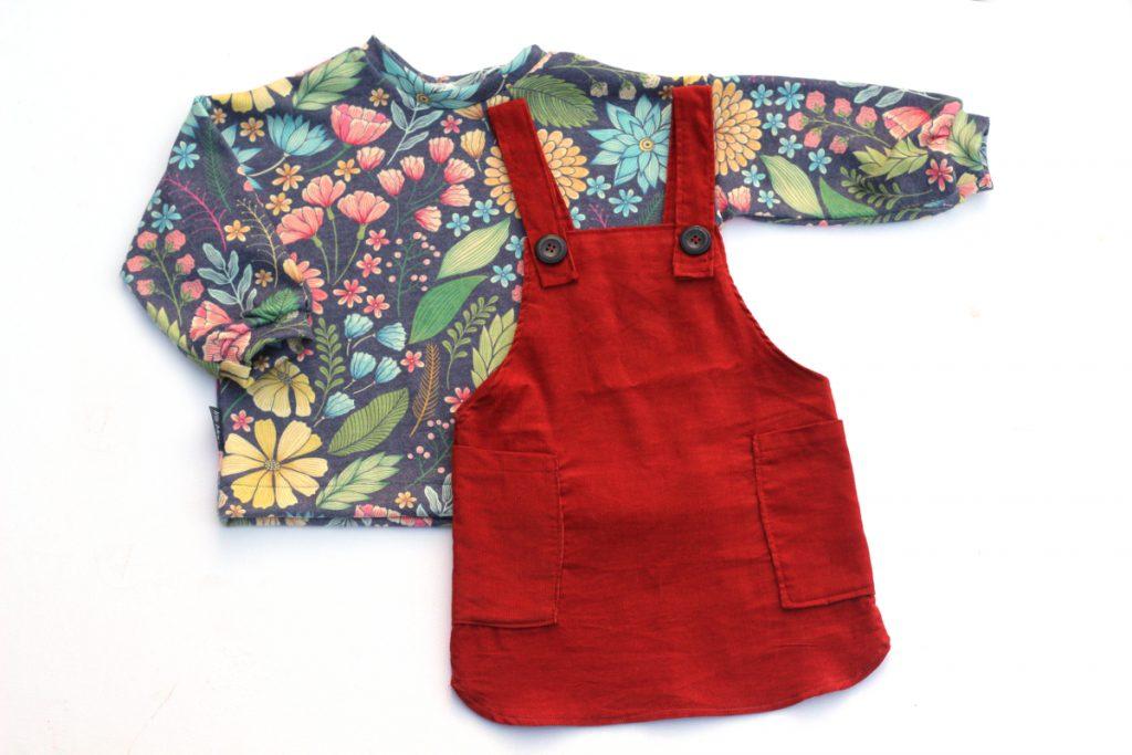 6c2bc1504555b9 Patroon Sweater Jurk Baby  Fons en sien gratis patroon en tutorial u ...